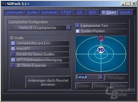 SB Audigy Player vs. TerraTec SiXPack 5.1+