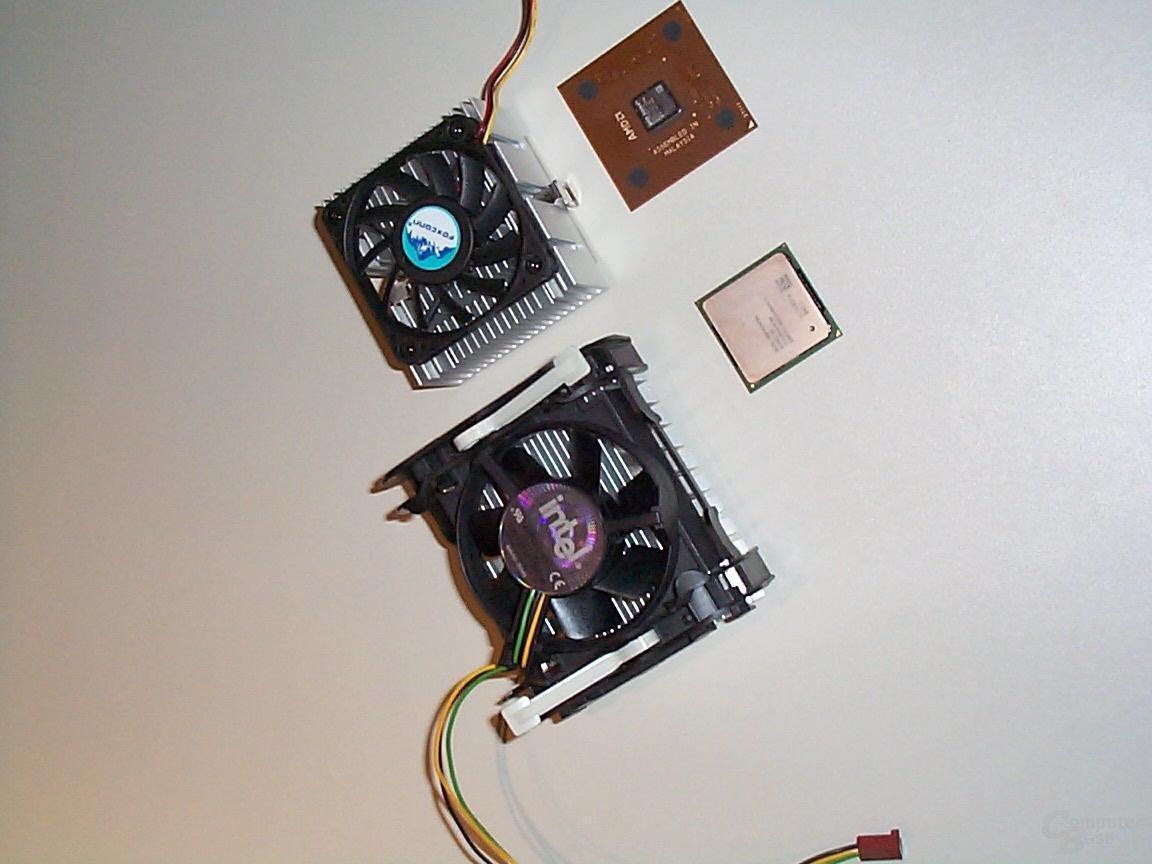 Pentium 4 und Athlon Kühler im Vergleich
