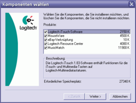 Logitech iTouch 1.83 Setup Nr. 0