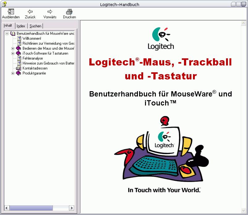 Logitech Handbuch Startseite