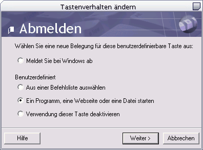 IntelliType Pro 2.1 Abmelden