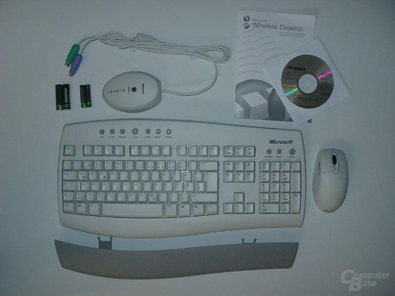 Microsoft Wireless Desktop Lieferumfang