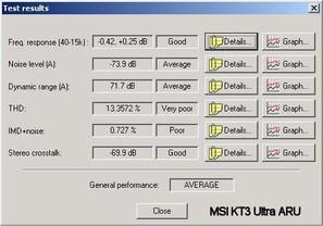 Audio Qualität KT3 Ultra