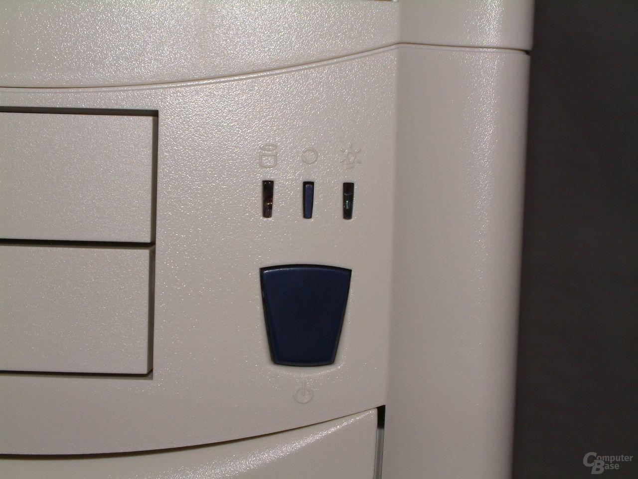Power-Schalter und LEDs