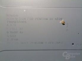 Detail: Beschriftung