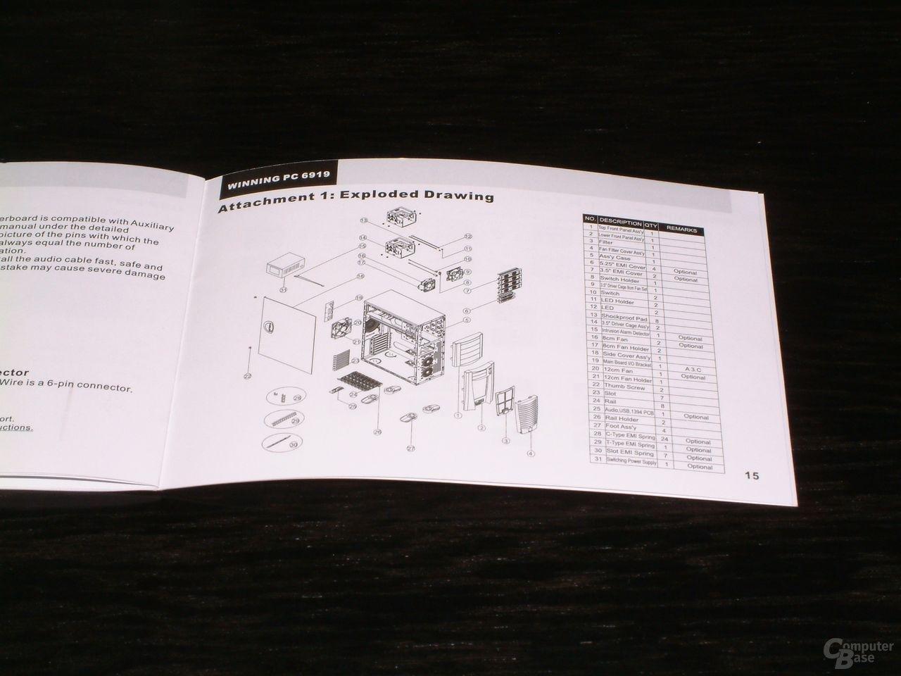Anleitung Explosionszeichnung
