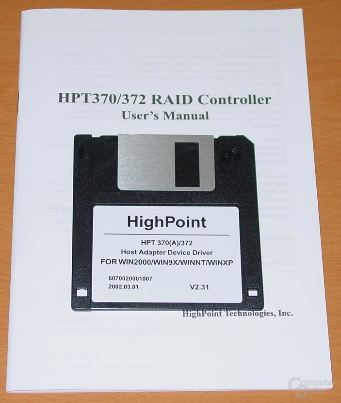 EP-4G4A+ Raid Hanbuch + Diskette