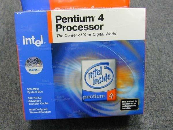 Verpackung vom Pentium 4 mit 2.8 GHz