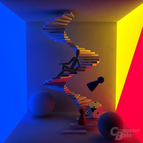 Cinema 4D XL R7 - Radiosity-Stairs