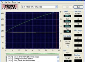 Schreibsimulation Asus CRW-4816A