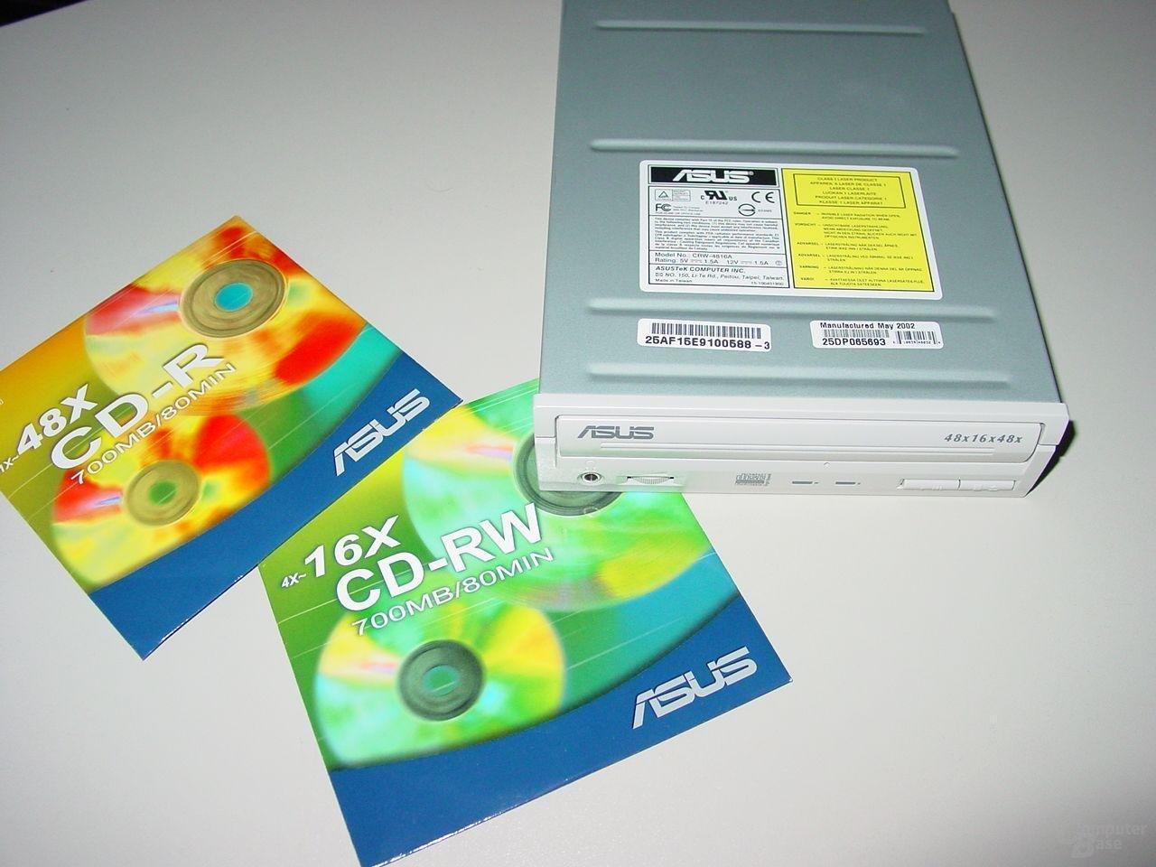 Rohlinge und Laufwerk Asus CRW-4816A