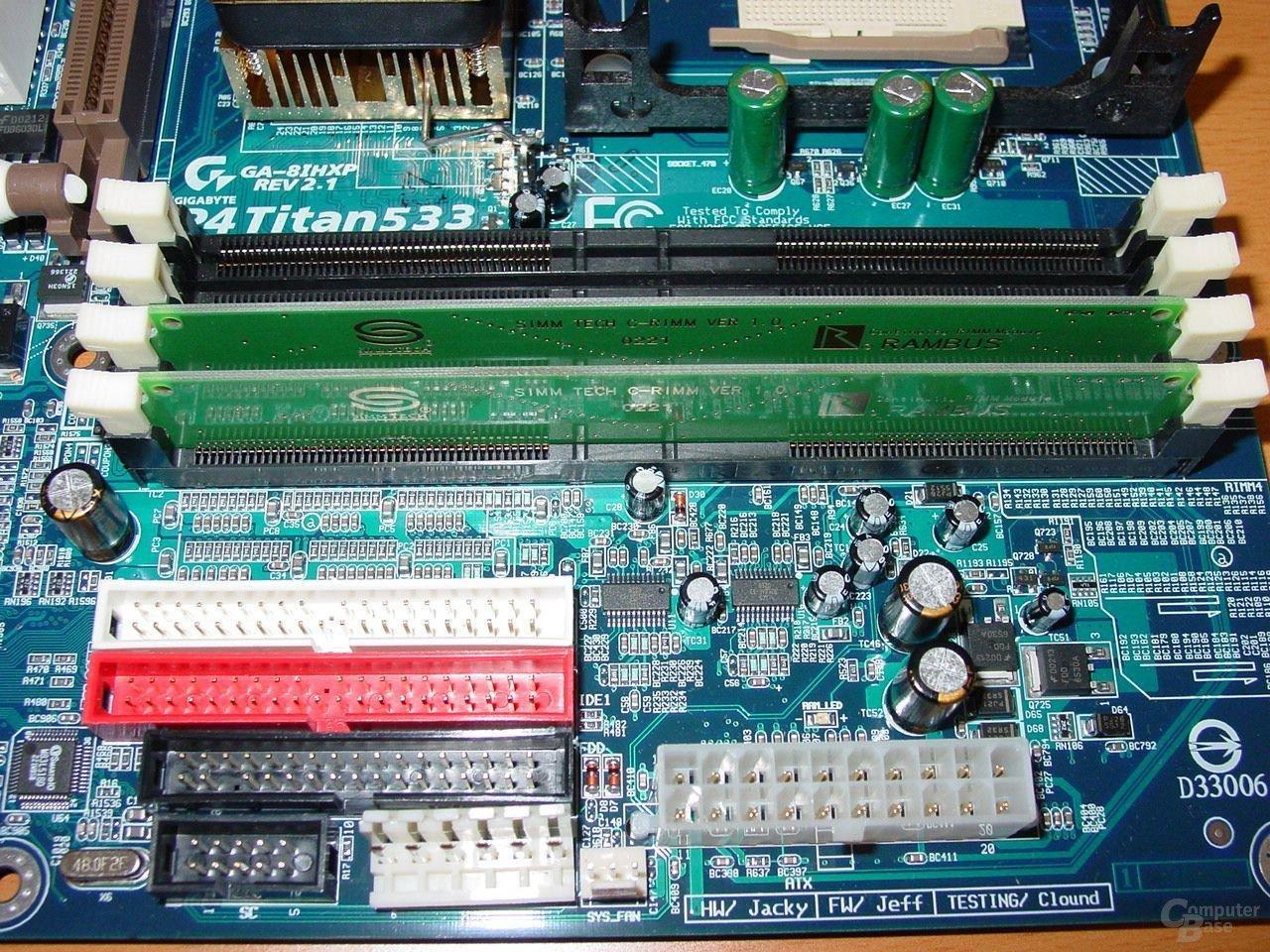 RAM + Power und IDE