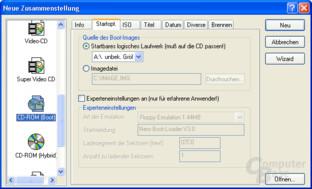 Nero Auswahl CD-ROM Boot