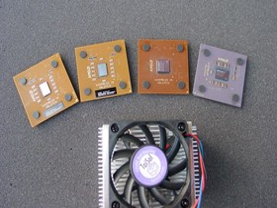 Von Links nach Rechts - Athlon XP 2600+, 2200+, 1600+, 1400 GHz