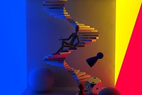 Cinema4D XL R7 - Radiosity-Stairs