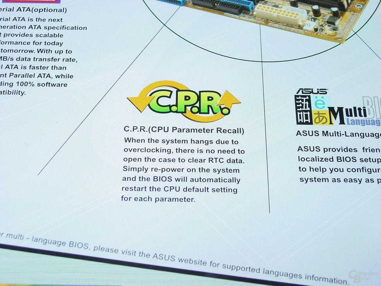 CPU Parameter Recall