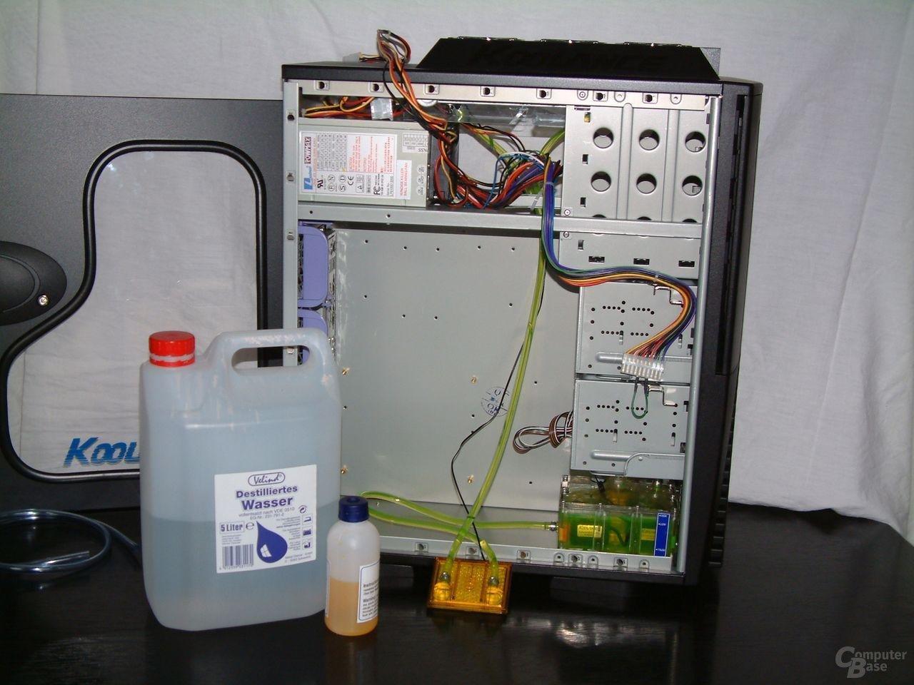 Befüllter Kühlkreislauf