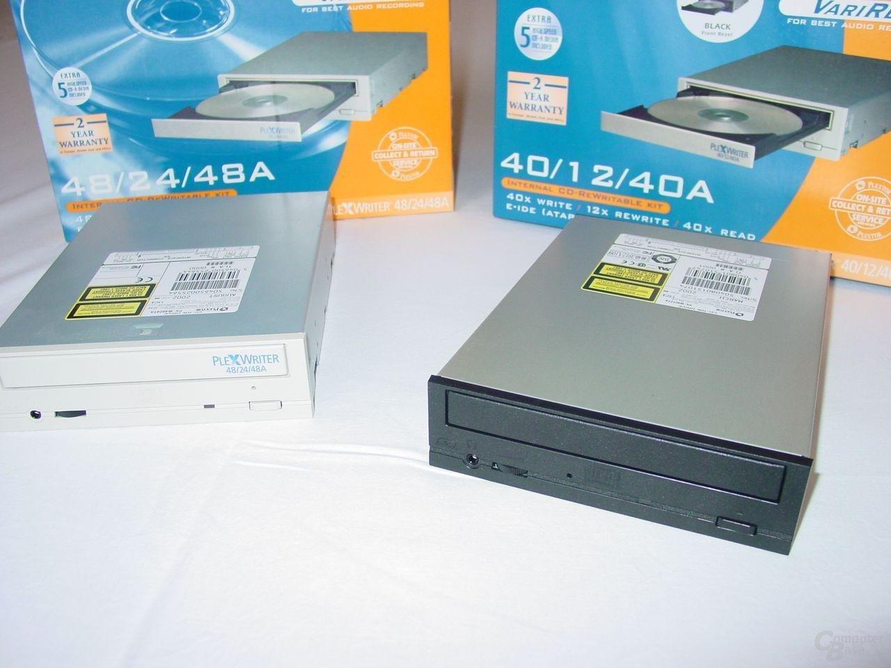Verpackungen und Laufwerke PX-4824TA und PX-4012TA