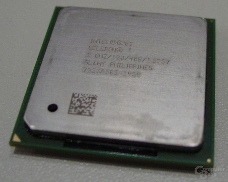Intel Celeron 2 GHz von oben