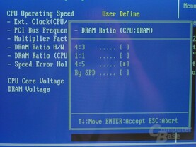 Bios - DRAM Ratio