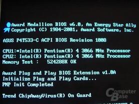POST mit Dual 3066 MHz