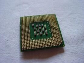 Intel Pentium 4 mit Hyper-Threading von unten
