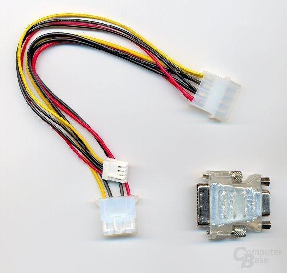 Y-Kabel und DVI-Adapter