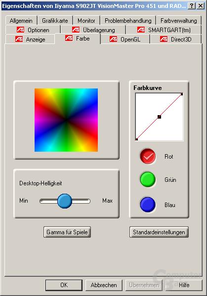Treiber - Color Correction