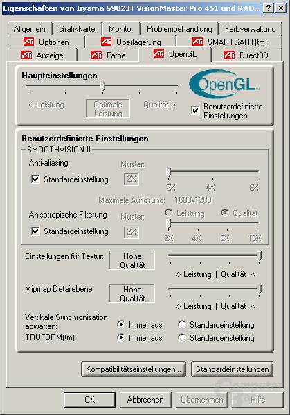 Treiber - OpenGL