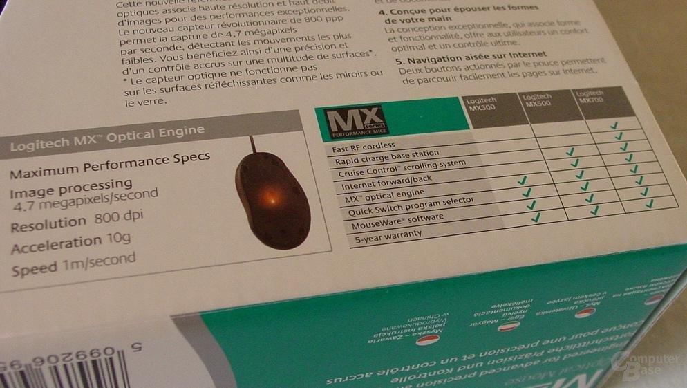 MX 500 - Technische Daten