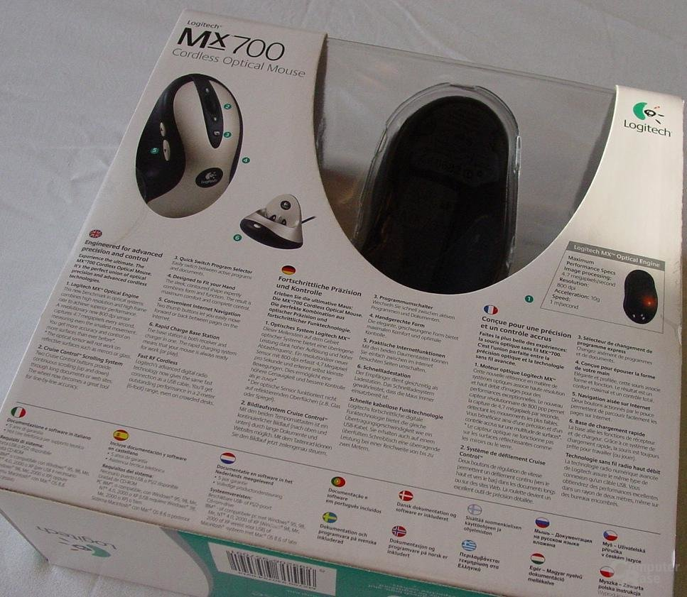 MX 700 Karton von hinten