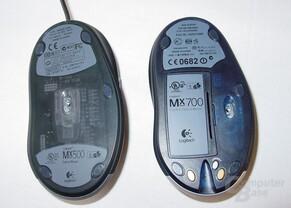 MX 500 und MX700 von Unten