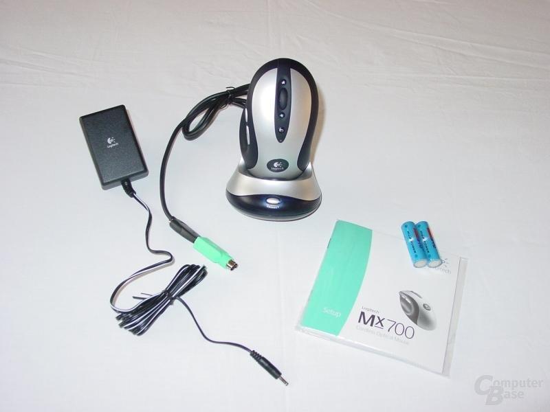 Verpackungsinhalt der MX700