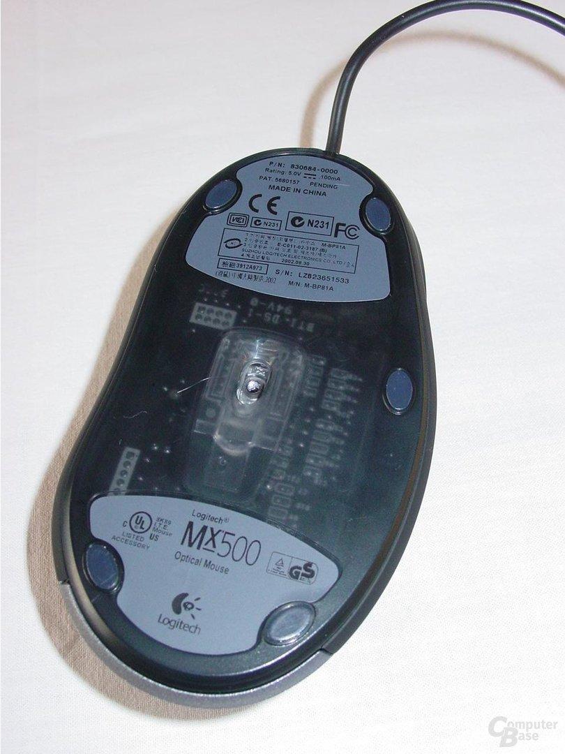 MX 500 von Unten