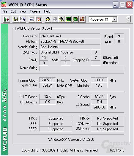 P4 2,4 FSB533