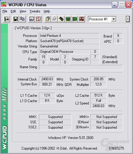 P4 2,4 FSB800