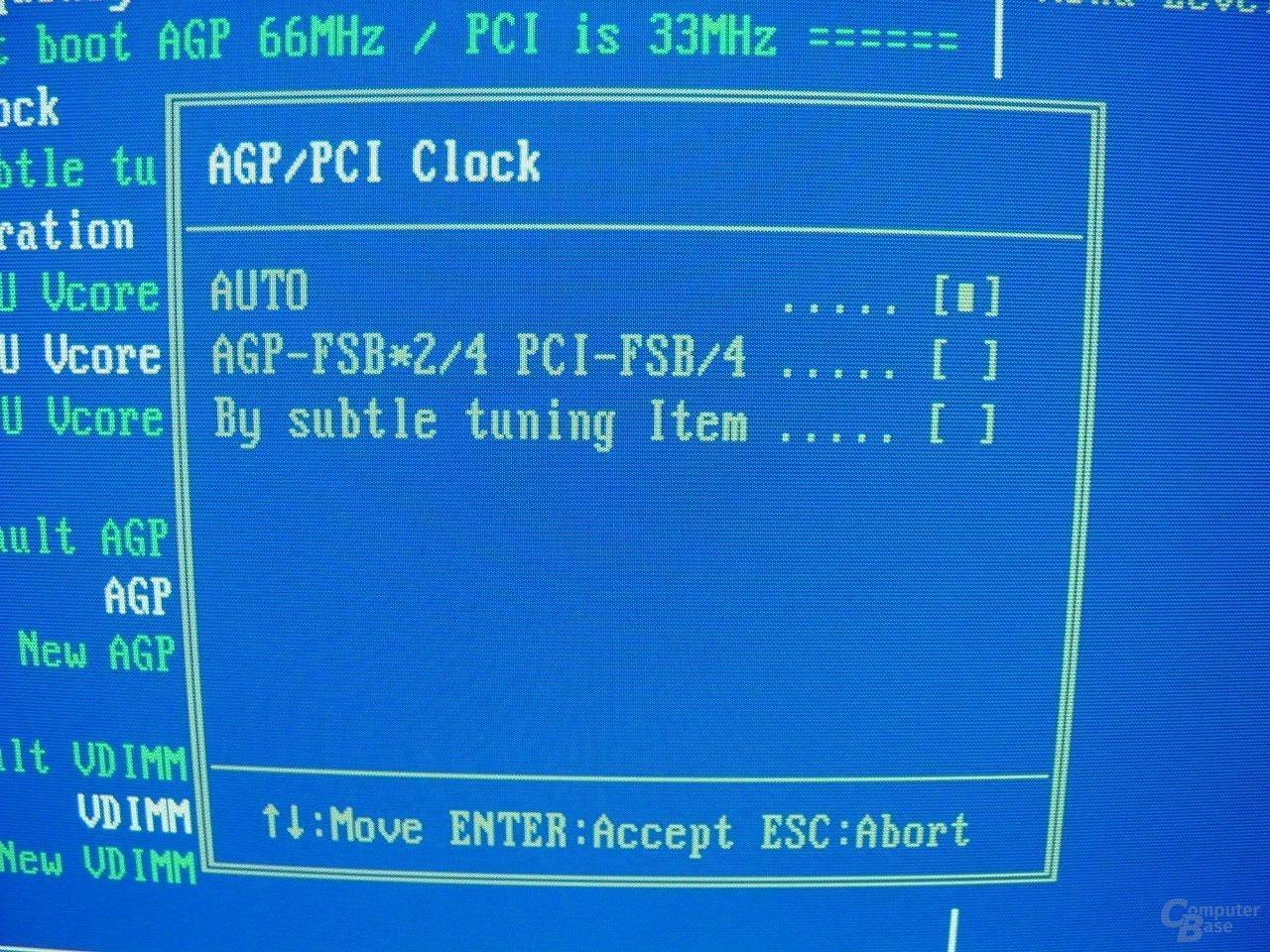 EP-4GEAEI - BIOS - AGP-PCI-Clock