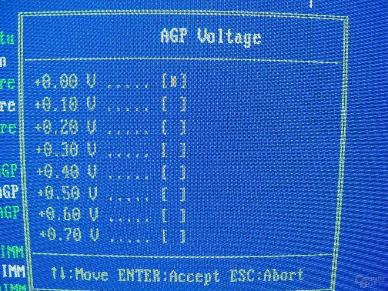 EP-4GEAEI - BIOS - AGP Voltage