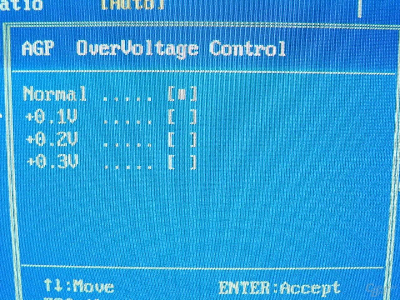 GA-8PE667 Ultra 2 - BIOS - AGP-Voltage