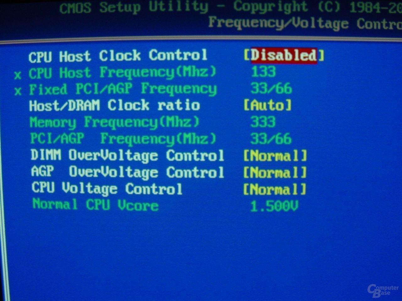 GA-8PE667 Ultra 2 - BIOS - Voltages
