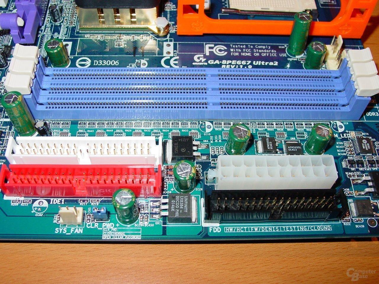 GA-8PE667 Ultra 2 - RAM, IDE, Power