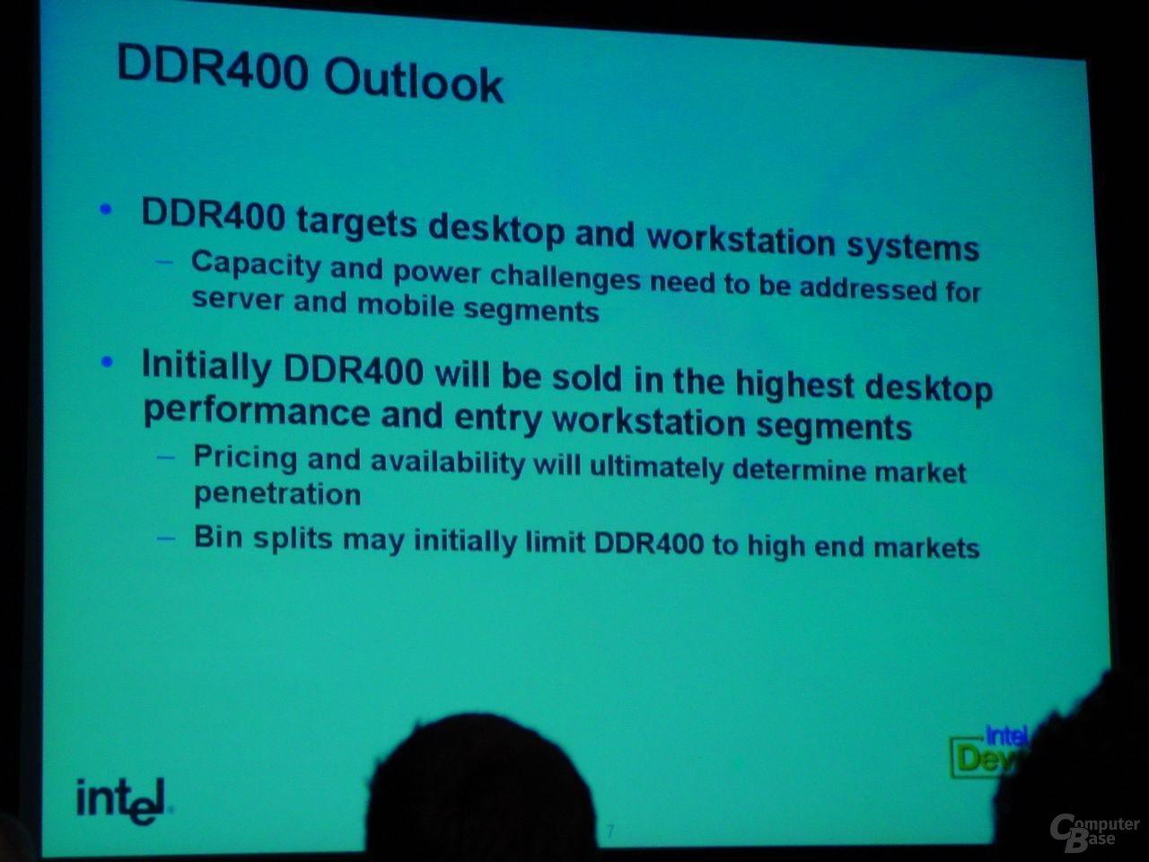 DDR400 Ziele