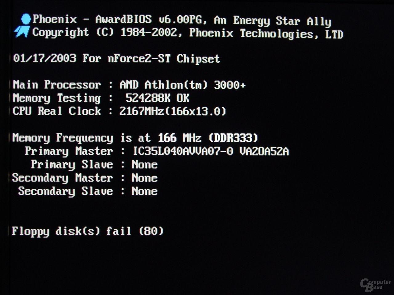 Athlon XP 3000+ mit 2,16 GHz