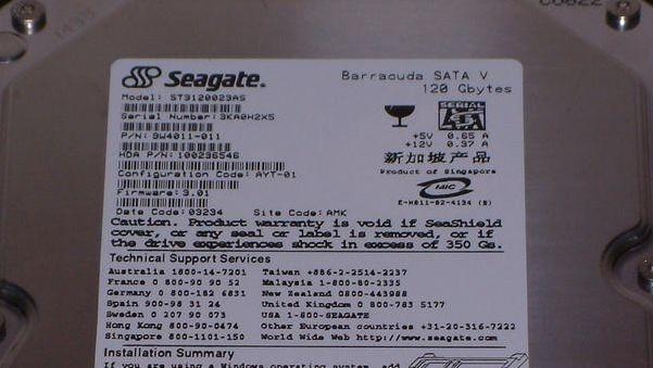 Seagate Barracuda V im Test: Erste S-ATA-HDD mit 120 GB