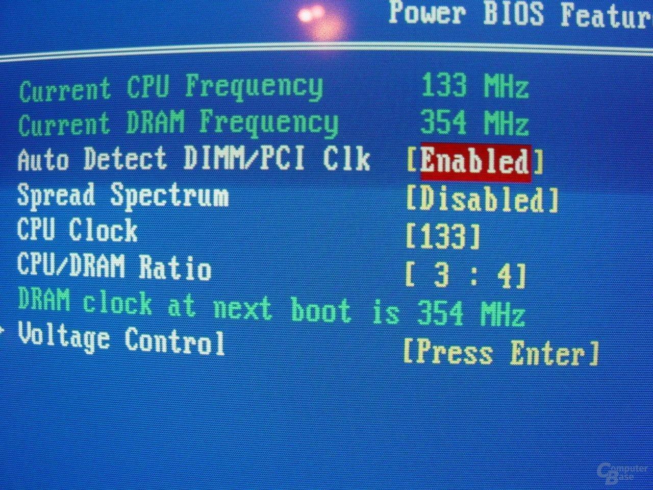 EPoX EP-4SDA5+ - Bios - FSB-RAM-Takt