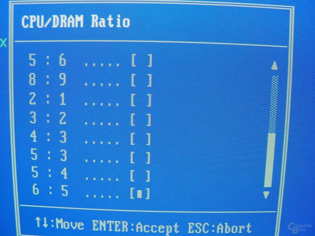 EPoX EP-4SDA5+ - Bios - RAM-Ratio - 2