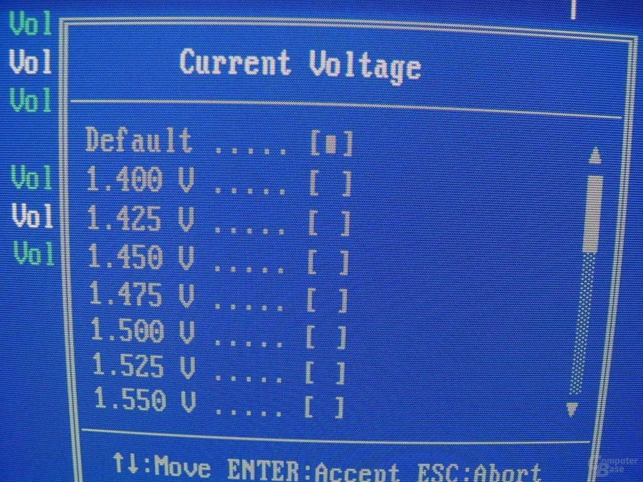 EPoX EP-4SDA5+ - Bios - VCore