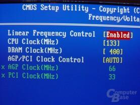Gigabyte - GA-8SG667 - Bios - Taktraten