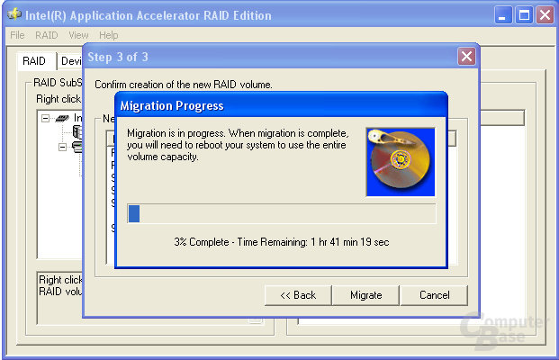 Migration auf RAID 0