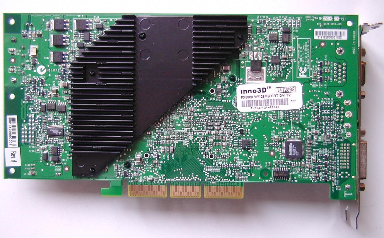 FX5800 – Rückseite